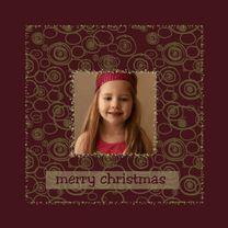 gouden patroon - Kerstkaarten