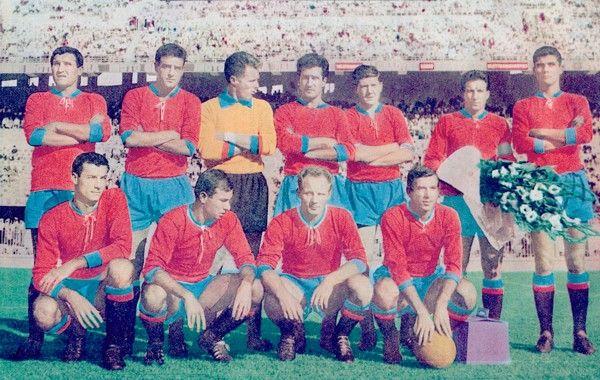 Catania 61-62 - In piedi da sinistra: Grani, Prenna, Vavassori, Zannier, Szymaniak, Corti e Michelotti. Accosciati: Morelli, Castellazzi, Giavara e Biagini