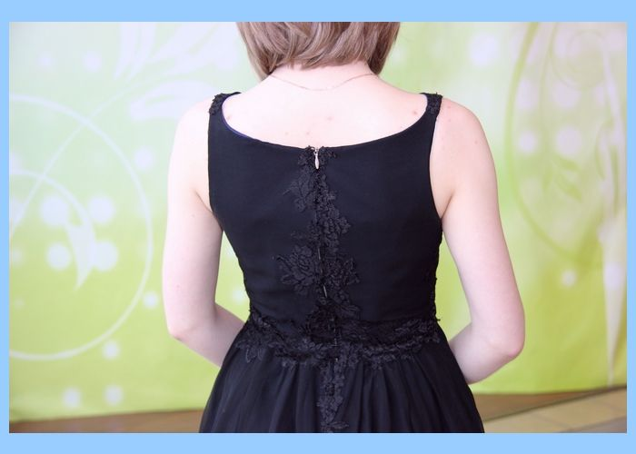 back of black dress - Kocham Szycie -