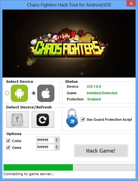 chaos fighters hack