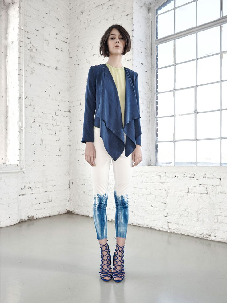 Light Summer Jacket by Fibula - buy online at Designrs.co. Light summery blazer. The front of the jacket fall softly like a drapery and provides gently playful and elegant effect at the same.