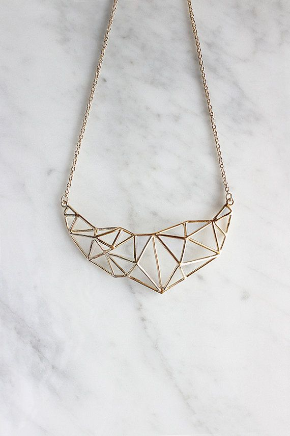 Poly Struc Statement Necklace 24/7 by GOOD AFTER NINE  //materials: brass…