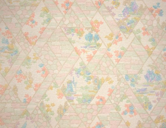 Pastel Vintage Wallpaper Floral From 1920 S Vintage