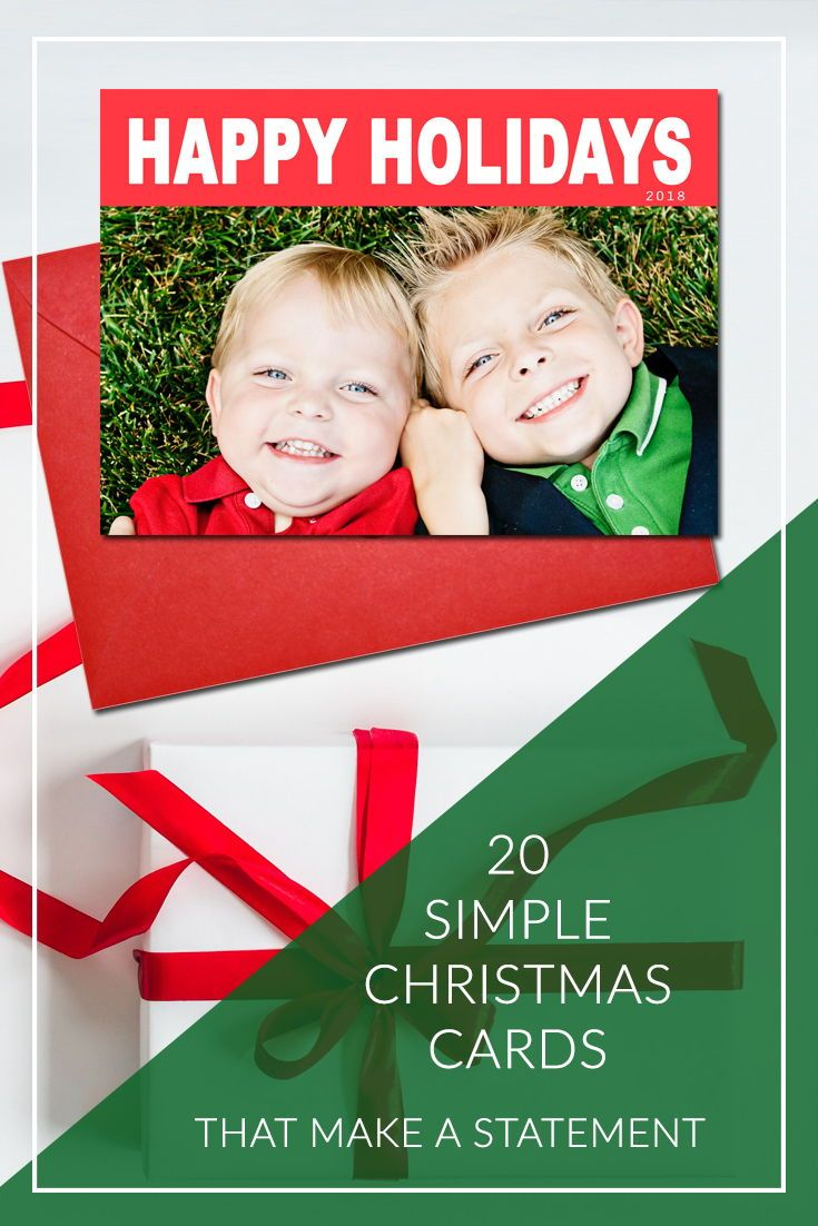 20 Simple Christmas cards that make a statement | Christmas cards ...