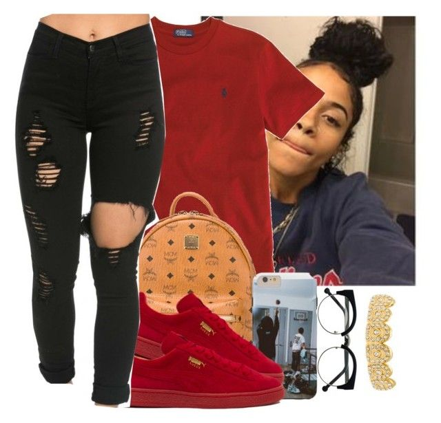 """Untitled #531"" by oh-thatasia ❤ liked on Polyvore featuring Ralph Lauren, MCM and Puma"