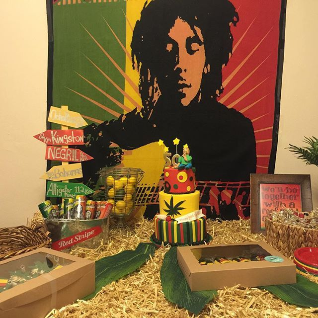 This evening we catered a Bob Marley themed birthday party in Queens and the…