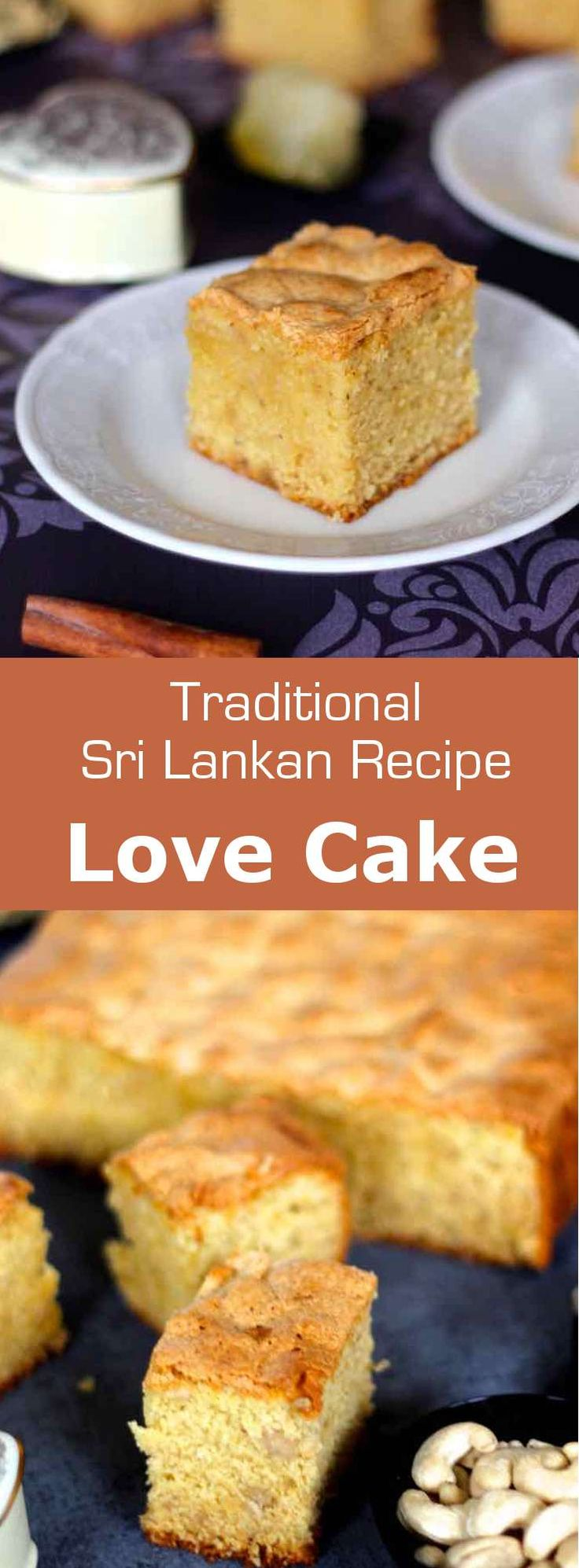The love cake is a traditional Sri Lankan cake made from cashews, semolina and candied winter melon called puhul dosi. It is perfumed with rose, cinnamon, cardamom with lime and nutmeg.  #SriLanka #SriLankanCuisine #SriLankanCake #Cake #CakeRecipe #SriLankanRecipe #WorldCuisine #196flavors via @196flavors