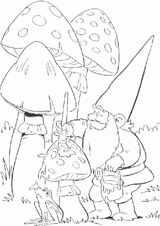 gnomes coloring pages | David the Gnome Coloring Pages - ColoringPagesABC.Com