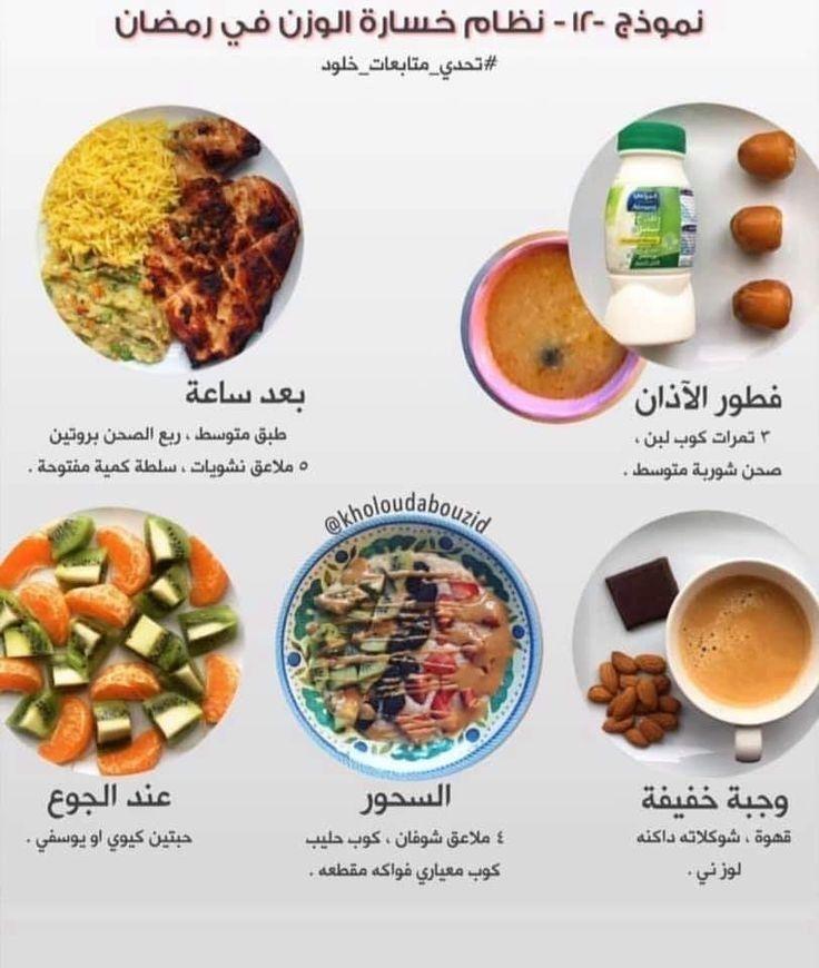 نموذج غذائي لخسارة الوزن في رمضان Health Facts Food Health Fitness Food Health Fitness Nutrition