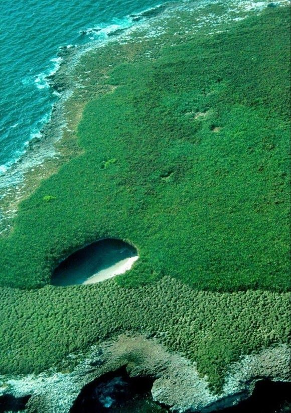 Hidden Beach on Marieta Islands, Mexico - Located just a few miles off the coast of Mexico, close to Bandera bay, Marieta Islands are archipelagos that were formed as a result of volcanic activity. The islands have remained almost secluded ever since.- http://www.theworldgeography.com/2013/08/strange-beaches.html