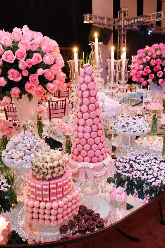Ideias p/ festas em rosa: