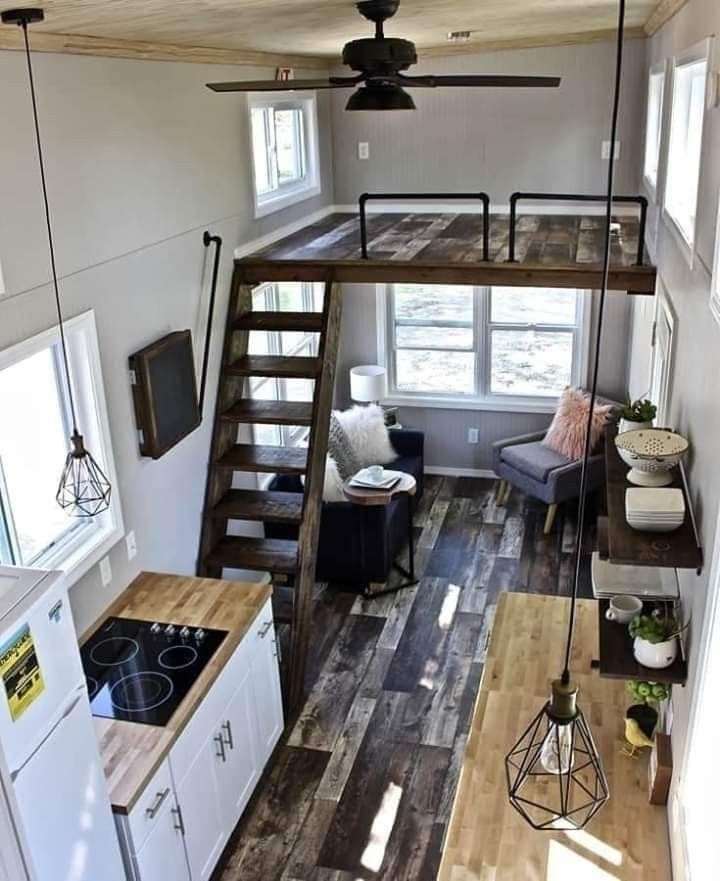 The Blank 2nd Floor Could Be My Future Studio Area Tiny House Design Tiny House Interior Design Tiny House Interior