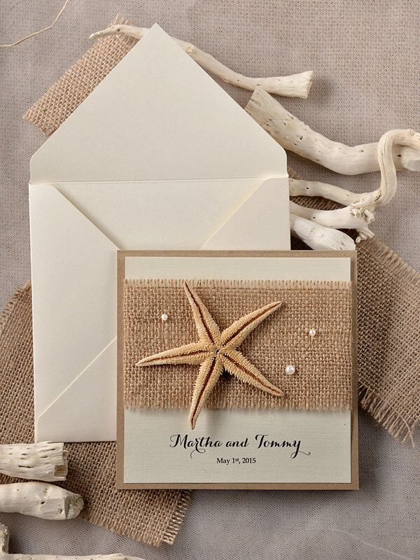 Custom Listing 20 Beach Wedding Invitations Starfish Wedding Invitation Destination Wedding