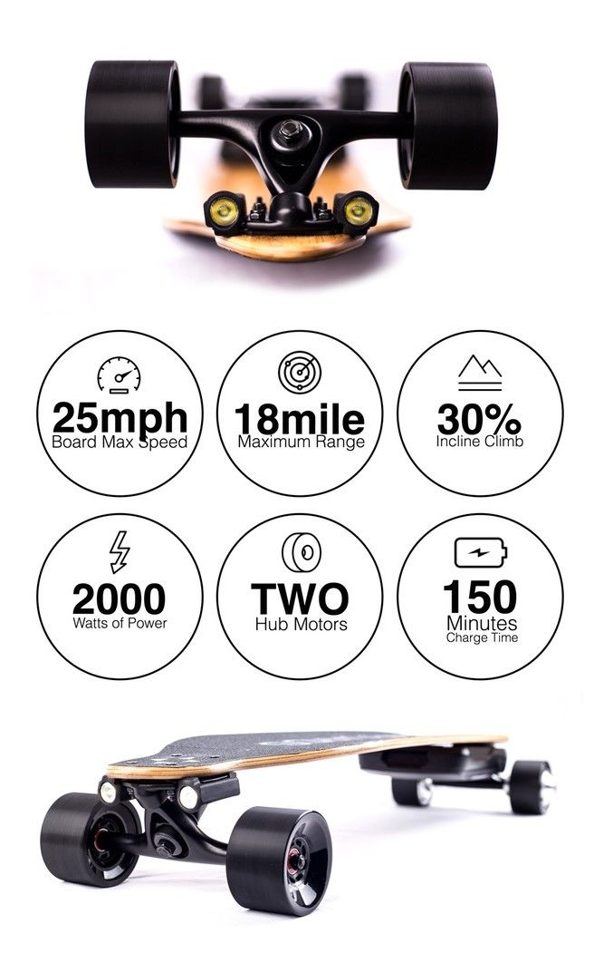 IvoryBoards 2,000 Watt Affordable Electric Skateboards (video)