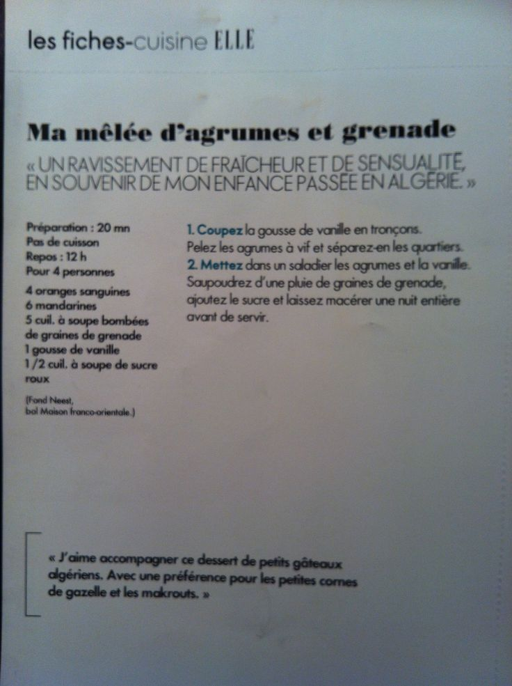 Agrumes et grenade