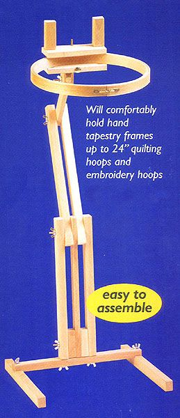 This quality Opus MkII craft stand is ideal for hands-free needlework and will comfortably hold frames up to 24 inches, quilting hoops and embroidery hoops.