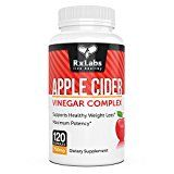 RxLabs 120 Apple Cider Vinegar Tablets 750mg | Natural & Highly Potent Weight Loss Dietary Supplement For Women & Men | Boost Immunity & Metabolism Cleanse & Detox System & Increase Energy Levels