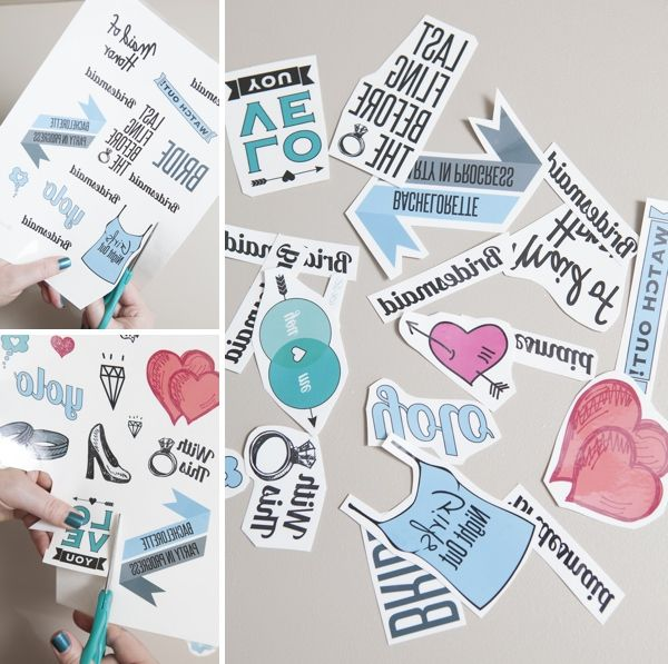 How to DIY silly bachelorette party tattoos!!!! With adorable free downloads!!!