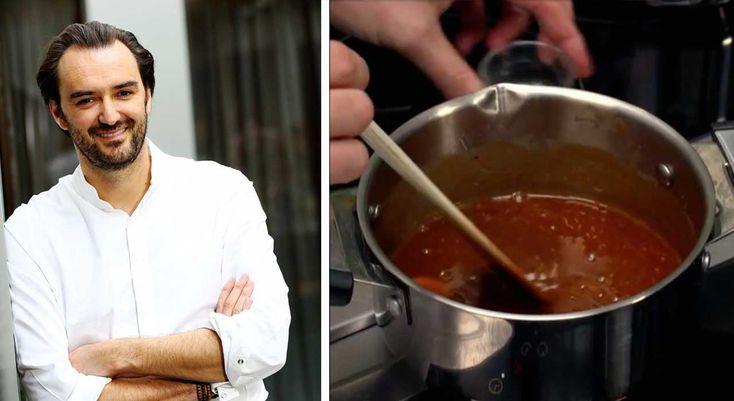 """Notre chef adoré CyrilLignac dévoile en vidéo ses astuces pour réaliser un délicieux caramel mou dans le dernier épisode de """"Sucrément bon"""", l'émission culinaire de Téva. ..."""