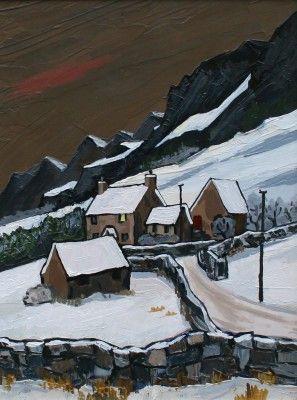 British Artist David BARNES - Farm in the Carneddau