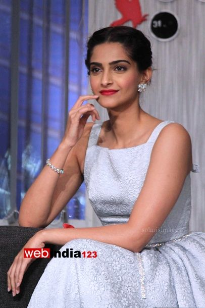 Bollywood actor Sonam Kapoor after interviewing candidates for Get a Job at YRF during the promotion of their upcoming film Bewakoofiyaan, in Mumbai, India on March 12