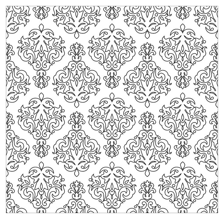 Free coloring page coloring-vintage-patterns-by-kostins. Very Vintage patterns, by Kostins (Source : 123rf)