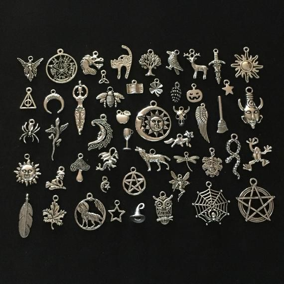 BULK 50 Number 7 charms antique silver tone