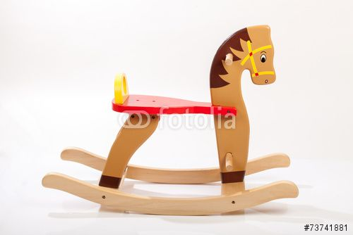 wooden rocking horse. Children toy