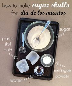 One of the most common decorations on altars for Day of the Dead is the sugar skull. They're easy to make but require a little time to dry overnight. Here are instructions on how to make your own calaveras for your altar for Día de los Muertos.