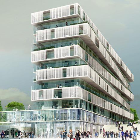 Housing for Jardins de l'Arche  by Farshid Moussavi Architecture