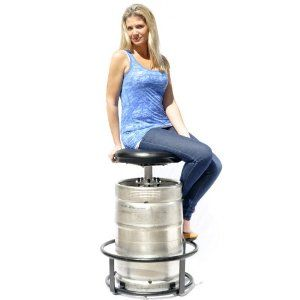 Keg Stool Make It Useful Chair And Keg In The Same
