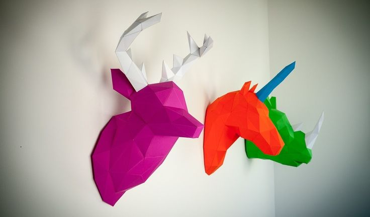 Papertrophy is a wonderful collection of colorful pre-cut paper sculptures by Holger Hoffman.