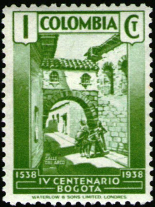 ¡CENTENARIO DE BOGOTA(1538-1938) EMITIDA EN 1938!!