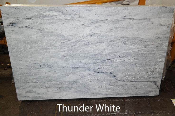 THUNDER WHITE Basil Kitchen Pinterest Grey Granite