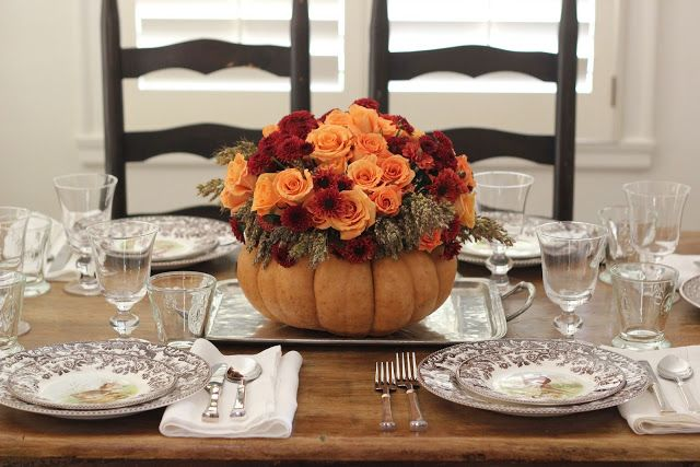 Beautiful Thanksgiving Table Settings With Roses Ornament Interior Design - GiesenDesign & 114 best The Thanksgiving Table images on Pinterest | Thanksgiving ...