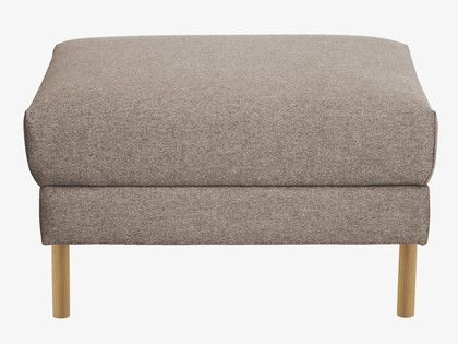 Hyde Natural Fabric Storage Footstool