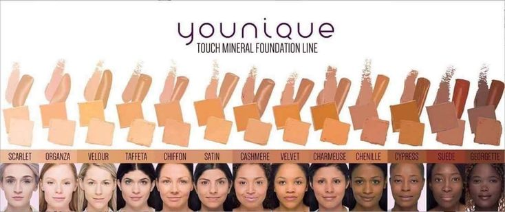 All 13 Colors of Younique Foundation With Complete Younique Color Matching Guide