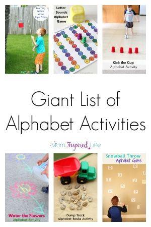 Verschillende activiteiten om kinderen de letters van het alfabet te leren
