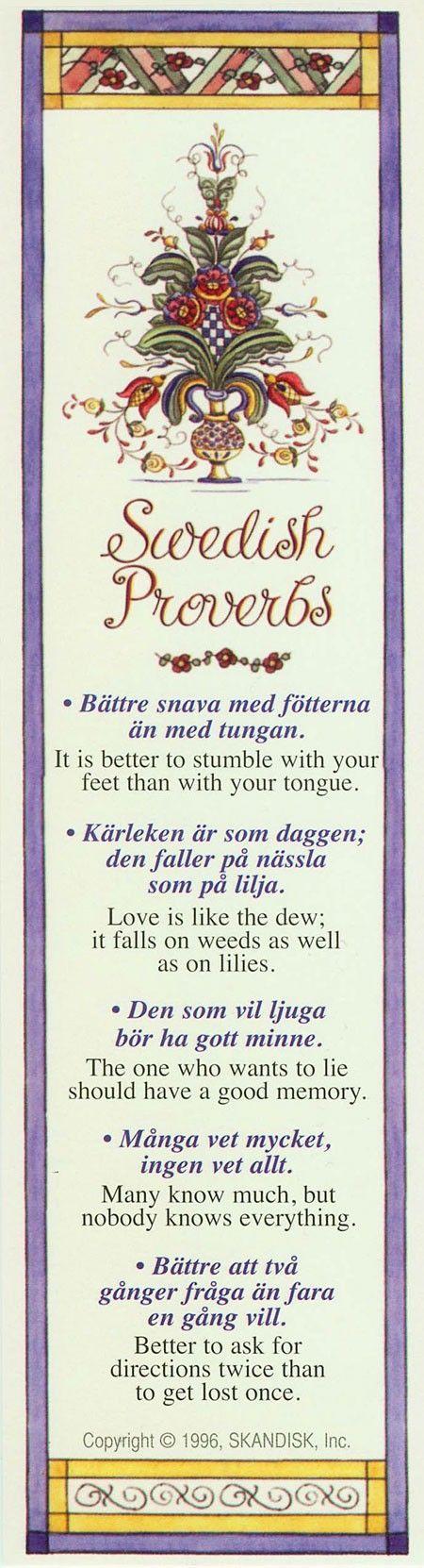 Schwedische Weisheiten