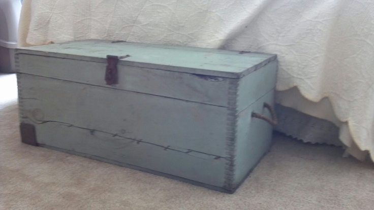 Mint green chest. $30 Swan Creek Candle Company and Antiques Dundee, MI