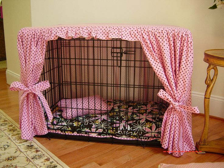 Dog crate cover sample WoW ...this is so adorable...I SO could make this & it is perfect for my dog!