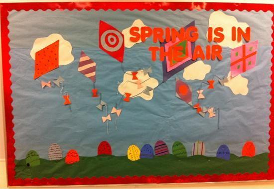 "springtime bulletin boards   Spring is in the Air!""   Seasonal Bulletin Board"