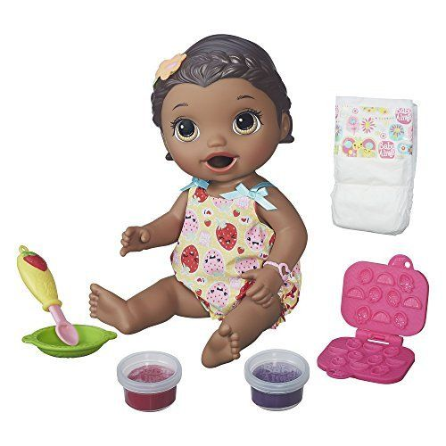 Baby Alive Interactive Talking Baby Doll Super Snacks Lily African Ame – Vick's Great Deals