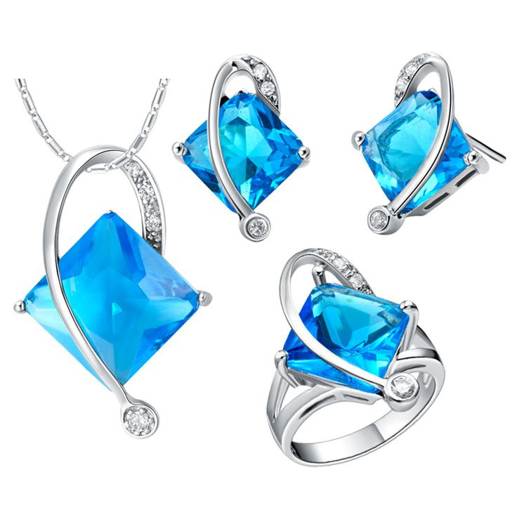 suits custom-made suit line exported end clearance 925 Sterling Silver pendant Earrings ring Women Gift word Jewelry sets