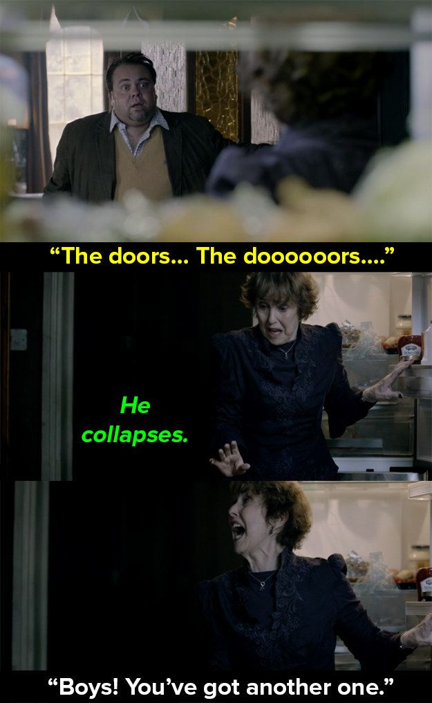 "When a random person collapsed on her floor. | 14 Times Mrs Hudson Was The Best Thing About ""Sherlock"""