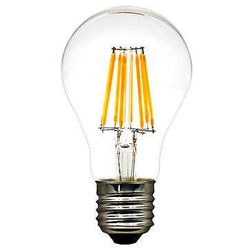 Strak LED All Glass Filament Clear A19 Bulbs 360 Degrees 7W 700lm Dimmable Energy Star CUL/UL listed ,High CRI (90). Warm White , Instant On, Mercury and Rohs complaint Construction. Similar sizing as regular Incandescent A19 Bulbs. Exactly 1 to 1 ratio for replacement. 80-90% Consumption savings. 50,000 Hours and 5 years Warranty.