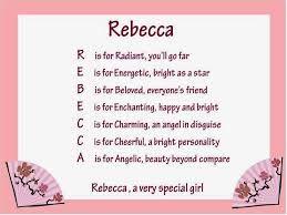 rebecca name - Google Search