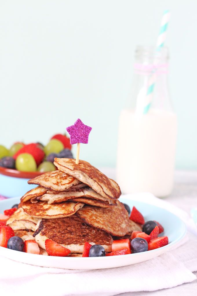 Pancakes made with just two ingredients. Gluten, dairy and sugar free. Perfect for baby led weaning and older children too!