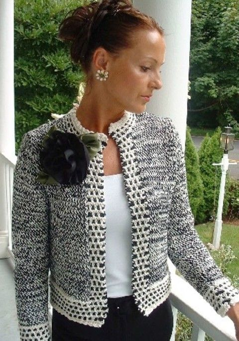 Knitting Pattern Chanel Style Jacket : 25+ best ideas about Crochet Jacket Pattern on Pinterest Crochet jacket, Cr...