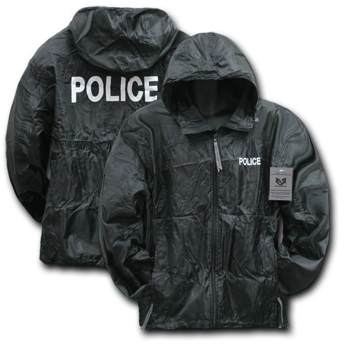 Black Police Officer Cop Sheriff Windbreaker Zipper Light Jacket Coat M L XL 2XL | Clothing, Shoes & Accessories, Men's Clothing, Coats & Jackets | eBay!